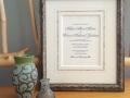 Wedding Invitation Framed