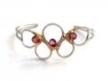 HTY-silver-gold-hand-soldered-cuff-bracelet-garnet