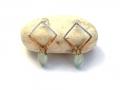 HTY-two-tone-diamond-forged-chalcedony-earring