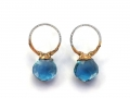 HTY-two-tone-round-forged-blue-topaz-earring