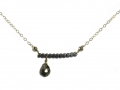 Vannucci-gunmetal-dotbar-necklace