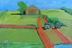 "Frank Woods| Le Grange Orange a St. Octave |oil on panel | 24"" x 16"" | $1300"