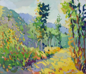 Henry-Isaacs-Old-Road-above-Asiago -oil-on-linen